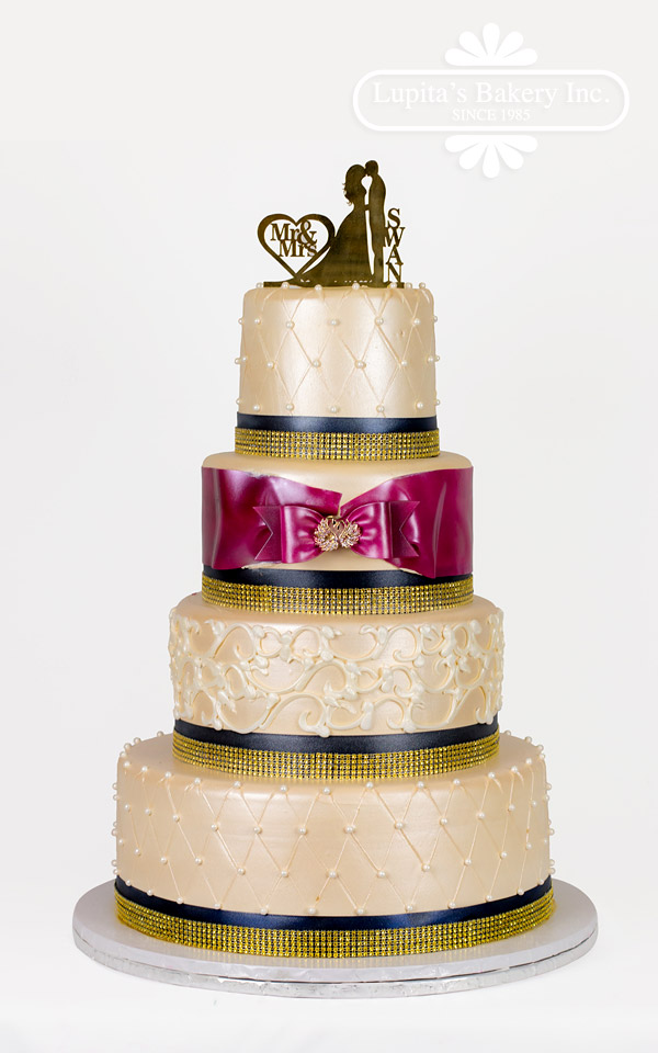 Happy Birthday Yoli Cake Wedding Gold